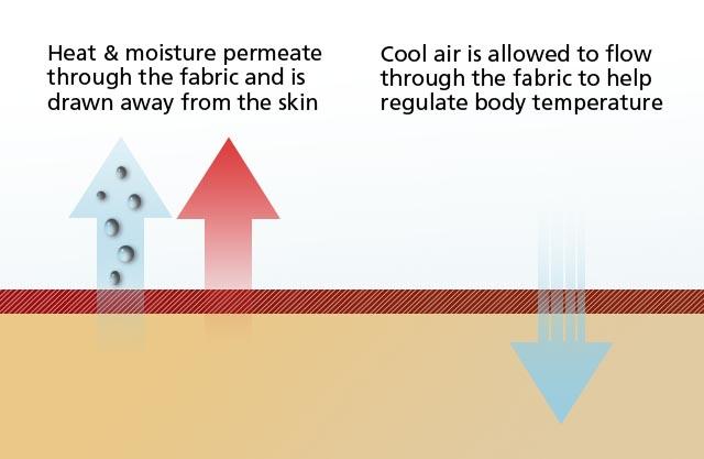 Moisture Wicking Diagram